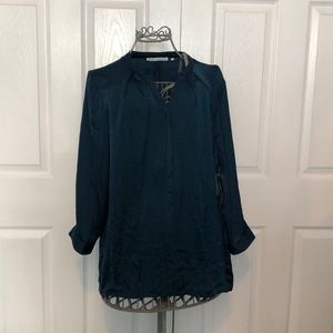 VIOLET + CLAIRE Teal 3/4 Sleeves Blouse